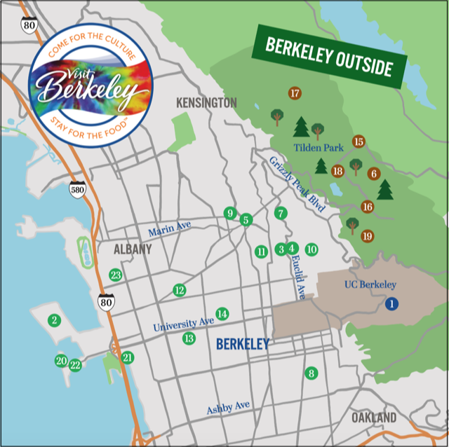 Explore Berkeley Outside Map