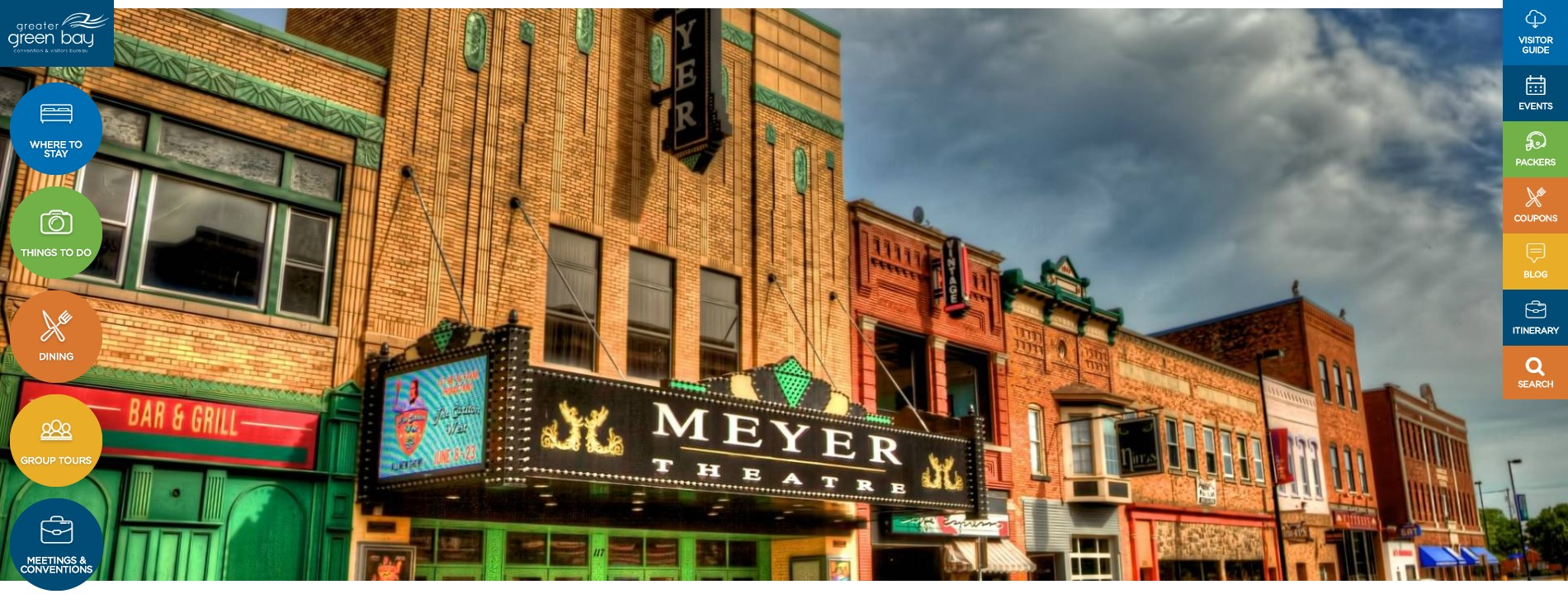 Greater Green Bay Convention & Visitors Bureau Website